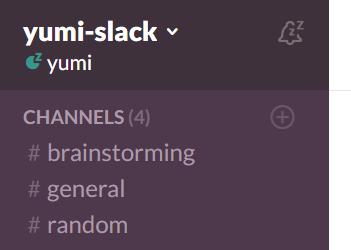 Slackトップ画面